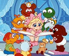 Muppet Babies! My favorite one was the one where they were trying to bake dough in the kitchen and miss piggy became the big giant dough girl like godzilla size...