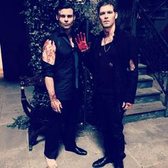 Joseph Morgan and Daniel Gillies