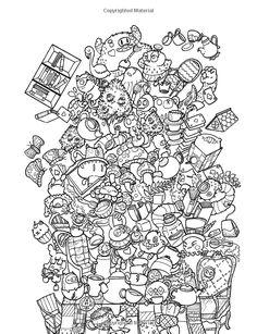 Amazon Doodle Chaos Zifflins Coloring Book Volume 3 9781523834778