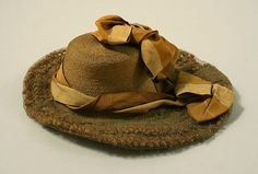 Hat Date: early 1890s Culture: American Medium: straw