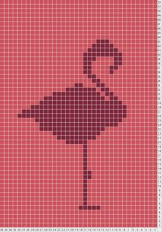 Flamingo dish cloth