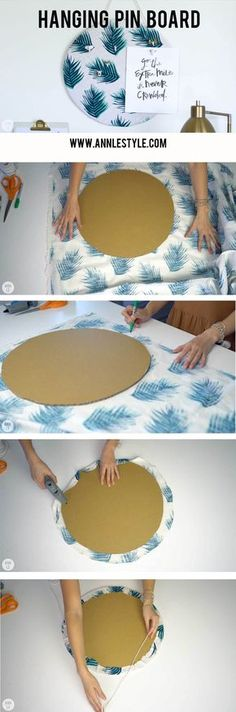Easy Cardboard Pin Board   5 DIY Desk Decors for Your Home Office   Ann Le Style