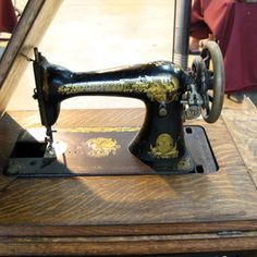 Refinishing a Singer treadle machine may decrease its value but increase its eye appeal.