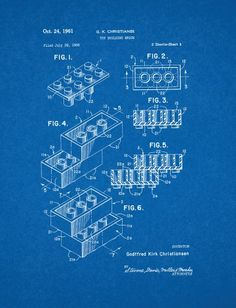 "Lego Toy Patent Art Blueprint Poster (11"" x 14"") Frame a Patent http://www.amazon.com/dp/B00JPRIUU6/ref=cm_sw_r_pi_dp_cd49tb0CRJGG2"