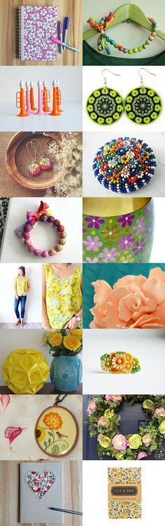 Hippy Dippy Florals!!! by Rosie Mitchell on Etsy--Pinned with TreasuryPin.com