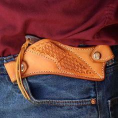 Posts about Gun holsters written by Thanh N. Leather Knife Sheath Pattern, Leather Pattern, Knife Holster, Belt Knife, Pistol Holster, Custom Leather Holsters, Leather Tooling Patterns, Leather Art, Tooled Leather