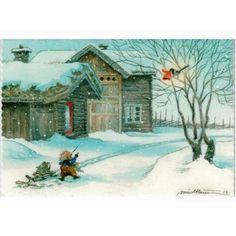 Winter Christmas, Christmas Cards, Sprites, Christmas Pictures, Vintage Cards, Gnomes, Elves, Winter Wonderland, Sweden