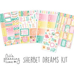 It's Planning Time Sherbet Dreams Planner by itsplanningtime