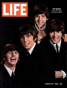 Having just arrived in the United States that February, four mop-topped, grinning guys from England landed on the cover of Life after being greeted by thousands of fans in New York City and 73 million viewers on The Ed Sullivan Show. The Beatles' appearance marked the start of music's British Invasion and signaled a change in rock and roll forever. | Life Magazine • August 28, 1964