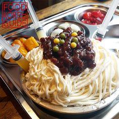 Jajang Bingsu (짜장빙수) from Cafe OZ (카페오즈) in Incheon. More Information found in the No.1 food guide in Korea, Food Korea Guide.