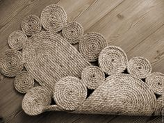 """Купить Коврик """"Овальный"""" - бежевый, ковер, джут, коврик на пол, коврики, натуральные материалы, практичный"""