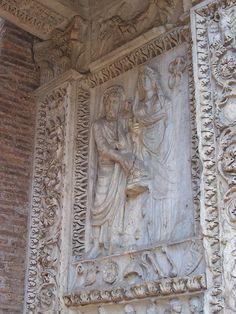 Arco degli Argentari - lato interno - Settimio Severo e Giulia Domna - Panairjdde - Arco degli Argentari
