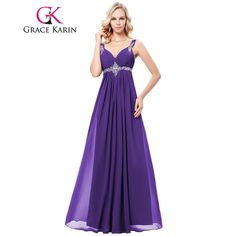 ... dresses for wedding party · grace karin beadings v neck sleeveless long prom  dress 2018 new arrival spaghetti strap special occasion a235fbd58be5