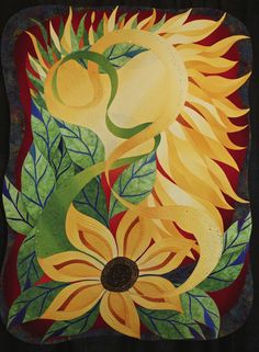 So Much life in a tiny seed. by Sharon Schlotzer, Monument, Colorado USA.  2015 Houston International Quilt Festival.  Photo by Pam Holland.