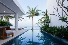 Oceanique Villas in Mui Ne, Vietnam | semi-detached sea front villas | basic materials, minimalistic design #architecture #interior_design #villas #summerhouse #ek_magazine
