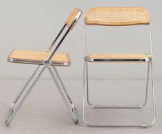 "STOLAR 4 st, ""Plia Folding Chair"", Giancarlo Piretti, Anonima Castelli, 1900-talets andra hälft."