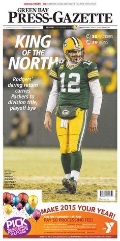 News design: Dec. 29 Green Bay cover.
