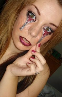 Kinda disgusting but I can't stop staring!!!  Awesome makeup job!