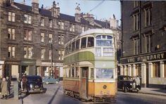 18 tram and The Boundary Bar, Glasgow. (1961)
