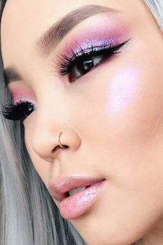 Docolor Professional Makeup Brush Set Goat Hair Foundation Eyeshadow Kit with PU Leather Case - Cute Makeup Guide I Love Makeup, Blue Eye Makeup, Cute Makeup, Gorgeous Makeup, Pretty Makeup, Asian Makeup, Glam Makeup, Liquid Eyeshadow, Eyeshadow Looks