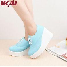 Aliexpress.com  Comprar Xwk0006 5 la venta entera del Vintage de la mujer  enredaderas zapatos de plataforma cuñas mujeres zapatos de tacón alto con  cordones ... a7f3f7ddd686
