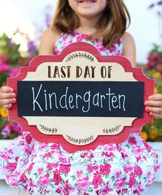 Take a look at this 'Last Day' Chalkboard Sign today!
