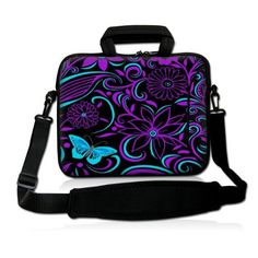 Purpleblack design 97 10 102 inch Laptop Netbook Tablet Shoulder Case Carrying Sleeve bag For Apple iPadAsus EeePCAcer Aspire oneDell inspiron miniSamsung N145Lenovo S205 S10HP Touchpad Mini 210 * See this great product.