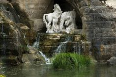 Detail of Apollo's Bath Grove in the gardens of Versailles