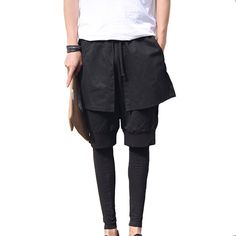 Cheap pants motorcycle, Buy Quality trouser designs directly from China pants punk Suppliers: Mens Skirt Gothic Punk Style Club Dance Black Special Design Stylish Harem Cross Pants Fake 3 pcs Casual Men's Sport&nbs