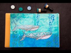Art Journal Page with Dylusions products - YouTube