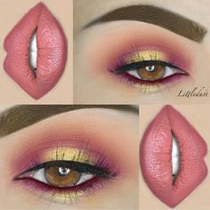 Cute eye make up Makeup Goals, Makeup Inspo, Makeup Art, Lip Makeup, Makeup Inspiration, Makeup Ideas, Makeup Style, Makeup Quiz, Devil Makeup