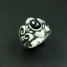 KNIGHT WARRIOR 925 STERLING SILVER US Size 10.5 BIKER GOTHIC RING ec-r003