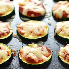 Zucchini pizza bites are ready in 10 minutes with only a few ingredients. Gluten free