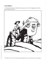 Otis the tractor coloring page
