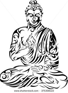 Buddha / Tribal Buddha / Seated Buddha / Vector Buddha