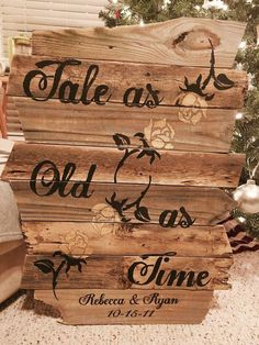 So do we! Inspired by Beauty and the Beast, this elegant reclaimed wood sign brings magic to any room! It fits great in a nursery, kids room, or even the family living room. We can customize it to your specificat Perfect Wedding, Fall Wedding, Rustic Wedding, Our Wedding, Dream Wedding, Wedding Ideas, Wedding Stuff, Magical Wedding, Wedding Themes