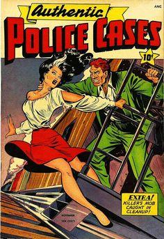 Authentic Police Cases #6, November 1948, cover by Matt Baker.