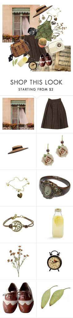 """""""Picnic in Paris"""" by hufflepuffhobbit ❤ liked on Polyvore featuring Guy Laroche, 1928, Roberto Coin, Bormioli Rocco and Bally"""