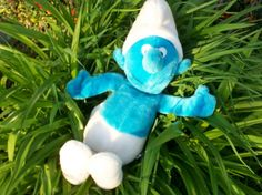 Plush Smurf  from 1980 large 20 inch blue by LovedOnceMoreVintage, $16.00