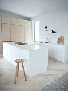 Scandinavian kitchen, birch ply