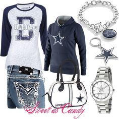 """Dallas Cowboys ♥"" by sweetlikecandycane on Polyvore"