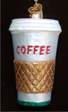 Coffee to Go Personalized Christmas Ornament