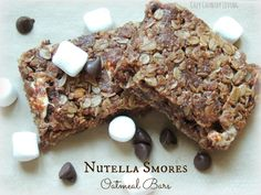 Nutella Smores Oatmeal Bars - Wow, these look really good!