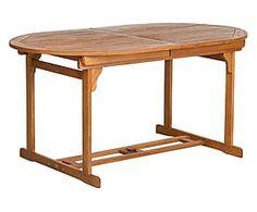 Tavolo allungabile in legno di eucalipto Stockholm - max 200x74x90 cm