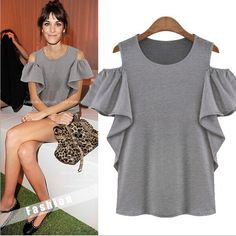 Solid Color Hollow Short Sleeve Cotton Leisure T-Shirt