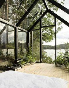 Modular Finnish greenhouse domesticity