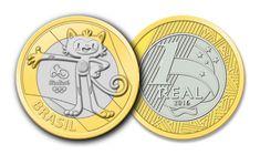 Moedas Comemorativas dos Jogos Olímpicos e Paralímpicos Rio 2016 Foreign Coins, Valuable Coins, Coin Values, Summer Games, Roller Set, World Coins, My Money, Rare Coins, Coin Collecting