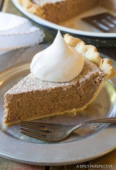 Absolutely the Best Cinnamon Pie Recipe! Perfect creamy cinnamon filling baked into a golden crust. Cinnamon Pie is the perfect dessert for holiday meals. Pie Dessert, Cookie Desserts, Holiday Desserts, No Bake Desserts, Just Desserts, Holiday Recipes, Cheesecake Desserts, Pumpkin Cheesecake, Pie Recipes