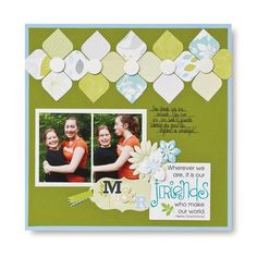 Friends Reflections Scrapbook Layout Page Idea