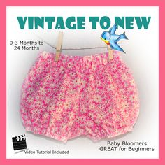 Baby Bloomer Bubble Bum Diaper Cover PDF Pattern and Video
